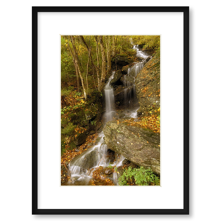 Quot Vermont Waterfall Quot Framed Print