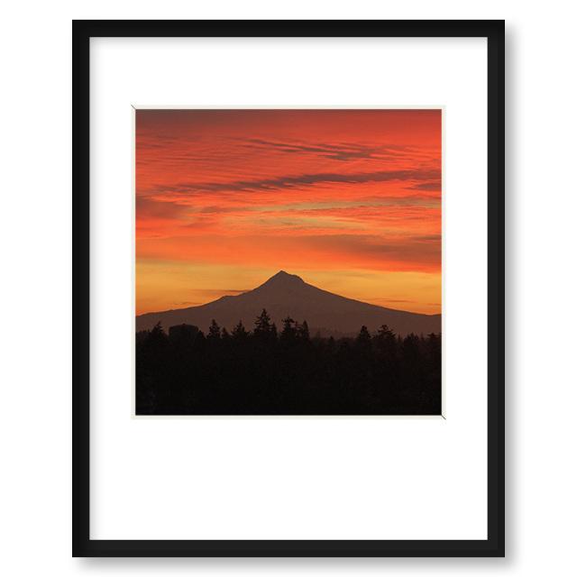 Quot Hood Sunrise Quot Framed Print